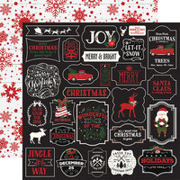Echo Park - A Lumberjack Christmas Collection - 12 x 12 Double Sided Paper - Jingle All The Way
