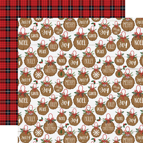 Echo Park - A Lumberjack Christmas Collection - 12 x 12 Double Sided Paper - Jolly Ornaments