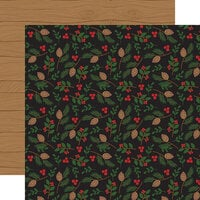 Echo Park - A Lumberjack Christmas Collection - 12 x 12 Double Sided Paper - Pinecone and Leaves
