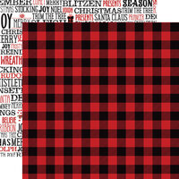Echo Park - A Lumberjack Christmas Collection - 12 x 12 Double Sided Paper - Lumberjack Flannel