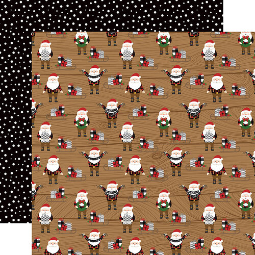 Echo Park - A Lumberjack Christmas Collection - 12 x 12 Double Sided Paper - Santas