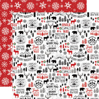 Echo Park - A Lumberjack Christmas Collection - 12 x 12 Double Sided Paper - Mountain Christmas