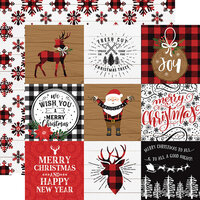 Echo Park - A Lumberjack Christmas Collection - 12 x 12 Double Sided Paper - 4 x 4 Journaling Cards
