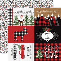 Echo Park - A Lumberjack Christmas Collection - 12 x 12 Double Sided Paper - 4 x 6 Journaling Cards