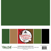 Echo Park - A Lumberjack Christmas Collection - 12 x 12 Paper Pack - Solids