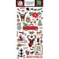 Echo Park - A Lumberjack Christmas Collection - Chipboard Stickers - Accents