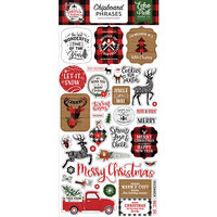 Echo Park - A Lumberjack Christmas Collection - Chipboard Stickers - Phrases