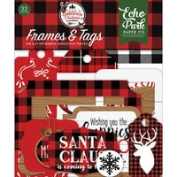 Echo Park - A Lumberjack Christmas Collection - Ephemera - Frames and Tags