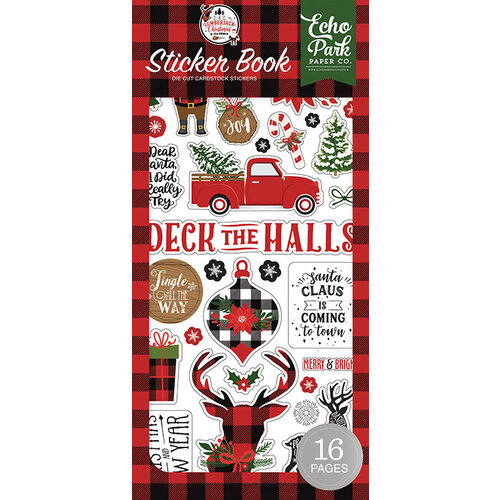 Echo Park - A Lumberjack Christmas Collection - Cardstock Sticker Book