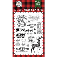 Echo Park - A Lumberjack Christmas Collection - Clear Photopolymer Stamps - Warm and Cozy Wishes