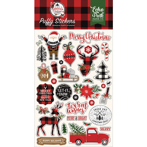 Echo Park - A Lumberjack Christmas Collection - Puffy Stickers