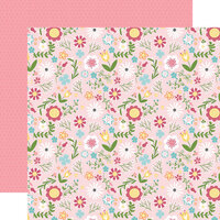 Echo Park - All Girl Collection - 12 x 12 Double Sided Paper - All Girl Floral