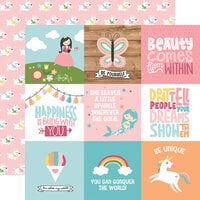 Echo Park - All Girl Collection - 12 x 12 Double Sided Paper - 4 x 4 Journaling Cards