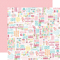 Echo Park - All Girl Collection - 12 x 12 Double Sided Paper - Hello Girl