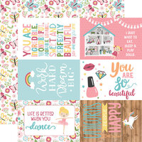 Echo Park - All Girl Collection - 12 x 12 Double Sided Paper - 4 x 6 Journaling Cards