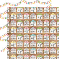 Echo Park - All Girl Collection - 12 x 12 Double Sided Paper - Dollhouse Dreams