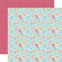Echo Park - All Girl Collection - 12 x 12 Double Sided Paper - Magical Mermaids