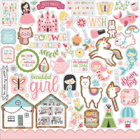 Echo Park - All Girl Collection - 12 x 12 Cardstock Stickers - Elements