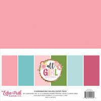 Echo Park - All Girl Collection - 12 x 12 Solids Paper Pack