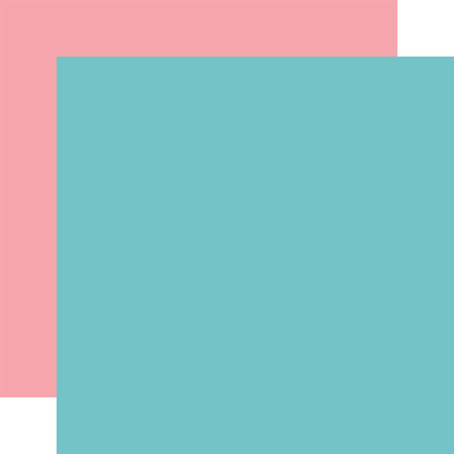 Echo Park - All Girl Collection - 12 x 12 Double Sided Paper - Teal