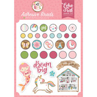 Echo Park - All Girl Collection - Self Adhesive Decorative Brads