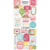 Echo Park - All Girl Collection - Chipboard Stickers - Phrases