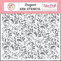 Echo Park - All Girl Collection - 6 x 6 Stencil - Pretty Flourish