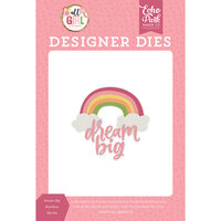 Echo Park - All Girl Collection - Decorative Dies - Dream Big Rainbow
