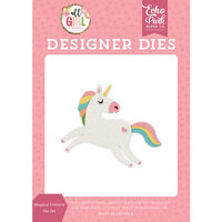 Echo Park - All Girl Collection - Decorative Dies - Magical Unicorn