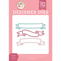 Echo Park - All Girl Collection - Decorative Dies - Beautiful Banners