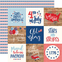 Echo Park - America Collection - 12 x 12 Double Sided Paper - 4 x 4 Journaling Cards