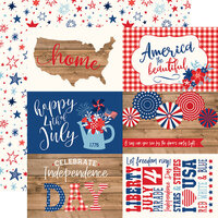 Echo Park - America Collection - 12 x 12 Double Sided Paper - 4 x 6 Journaling Cards