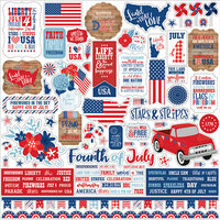 Echo Park - America Collection - 12 x 12 Cardstock Stickers - Element