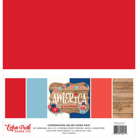 Echo Park - America Collection - 12 x 12 Solids Paper Pack