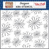Echo Park - America Collection - 6 x 6 Stencil - Festive Fireworks