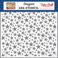 Echo Park - America Collection - 6 x 6 Stencil - Shining Stars