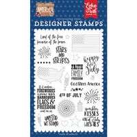 Echo Park - America Collection - Clear Photopolymer Stamps - Stars & Stripes