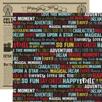 Echo Park - A Magical Place Collection - 12 x 12 Double Sided Paper - Smile Words