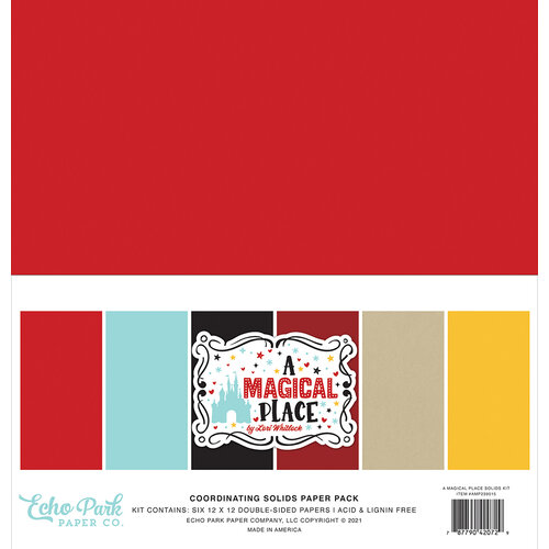 Echo Park - A Magical Place Collection - 12 x 12 Paper Pack - Solids