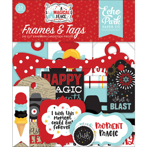 Echo Park - A Magical Place Collection - Ephemera - Tags and Frames