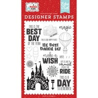 Echo Park - A Magical Place Collection - Clear Photopolymer Stamps - Our Happy Place