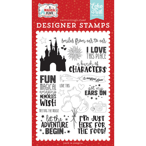 Echo Park - A Magical Place Collection - Clear Photopolymer Stamps - Smiles From Ear to Ear