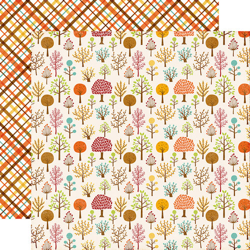 Echo Park - A Perfect Autumn Collection - 12 x 12 Double Sided Paper - Woodland Walk