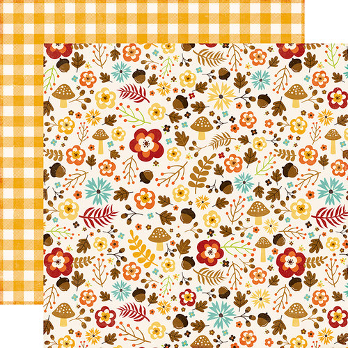 Echo Park - A Perfect Autumn Collection - 12 x 12 Double Sided Paper - Autumn Garden