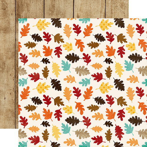 Echo Park - A Perfect Autumn Collection - 12 x 12 Double Sided Paper - Lovely Leaves