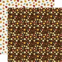 Echo Park - A Perfect Autumn Collection - 12 x 12 Double Sided Paper - Autumn Bouquet