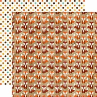 Echo Park - A Perfect Autumn Collection - 12 x 12 Double Sided Paper - Silly Fox