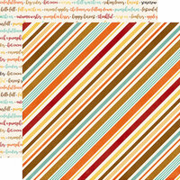 Echo Park - A Perfect Autumn Collection - 12 x 12 Double Sided Paper - Seasonal Stripe