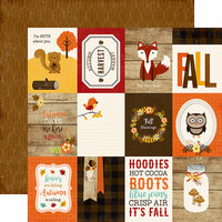 Echo Park - A Perfect Autumn Collection - 12 x 12 Double Sided Paper - 3 x 4 Journaling Cards