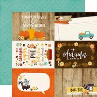 Echo Park - A Perfect Autumn Collection - 12 x 12 Double Sided Paper - 4 x 6 Journaling Cards